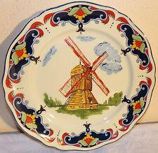 Assiette plate Moulin des loups Orchies 1880 collection Lille signée RG