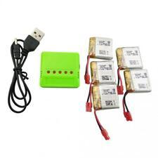 sea jump 5PCS 3.7V 380mah Lithium Battery +1pcs 5in1 Green Balance Charger...