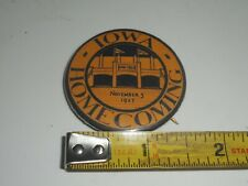RARE Vintage 1927 University of Iowa HAWKEYE Homecoming Button Badge Pin Pinback