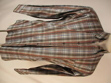 St Croix Mens Multicolor Plaid Long Sleeve Cotton Shirt M Italy Made