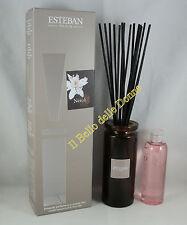 ESTEBAN Vaso diffusore profumo casa NEROLI 75ml a bacchette con vaso vetro