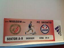 Football Ticket - UEFA - SPN Widzew SSA - FC Skonto