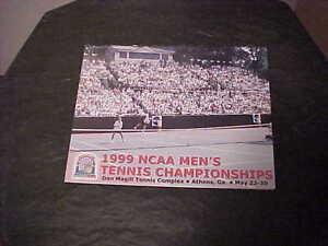 1999 NCAA Men's Division I Tennis Championship Program