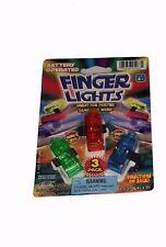 FINGER LIGHTS - 3 PACK - Green Blue Red - Party Stuffer Toy - Ja-Ru