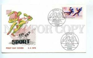 419192 GERMANY 1979 year Sport canoeing rowing handball First Day COVER