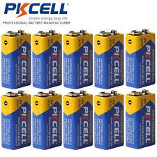 10x 6F22 9V Batteries Heavy Duty EN22 PP3 Zinc-Carbon for Smoke Detectors