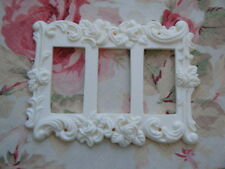 Roses & Flourish Triple Rocker Wall Plate Resin  French Country