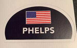 "Michael Phelps Swim Cap Sticker Navy Decal Swimming USA Olympics 3.9"" x 2.2"""