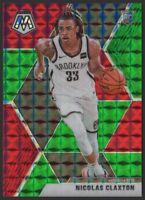 2019-20 Panini Mosaic GREEN and RED #236 Nicolas Claxton RC Rookie Brooklyn Nets