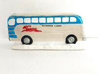 Vintage Reindeer Lines Bus Christmas Valley Collectibles Village Accessory