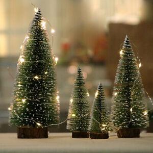 Party Cedar Ornaments Mini Christmas Tree Miniature Desktop Trees Decor Gift