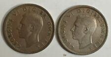 1947George VI Half-Crown Silver/ Cupro-Nickel Coins and 1948
