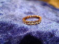 schöner, alter Ring__925 Silber__vergoldet__rundum mit  Steinen__!