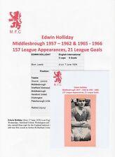 EDWIN HOLLIDAY MIDDLESBROUGH 1957-1966 ORIGINAL AUTOGRAPH MAGAZINE CUTTING