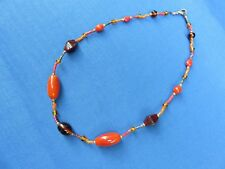 African Ethnic Jewelry Glass Beaded NECKLACE  FROM NAMIBIA South West Africa