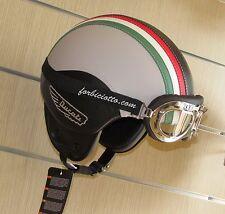 Casco vintage tricolore 150° in pelle bandiera Italia Italiana Ducati Scrambler