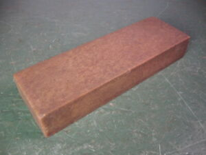 OLD USED VINTAGE SHARPENING HONING STONE NATURAL MATERIAL NICE SHAPE