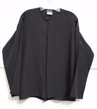 """Eskandar BLACK Light Weight Silk Round Neck 27"""" Long Blouse (1) $1395"""