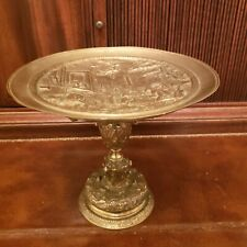 ANTIQUE  MID 19TH CENTURY ITALIAN BRONZE TAZZA