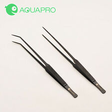 PRO STAINLESS TIP TWEEZER Aquarium Plant Tools Set- water plant MOSS (25cm)