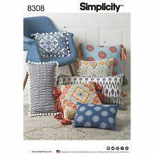 Simplicity Pattern 8308 Square and Rectangle Throw Pillows home decor