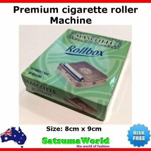 Mascotte Cigaretter roller machine premium metal box ciggy tobacco joint maker