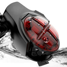 LED Bicycle Brake Back Tail Light Bike Cycling Rear Lamp USB Rechargeable 5 Mode