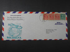 1941 AIR MAIL FIRST FLIGHT SAN JUAN LAGOS ENVELOPE FIRST COVER STAMPS PHILATELY