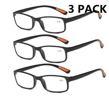 3 PACK TR90 Ultralight Reading glasses +1.0 to +4.0 for Reader Women Men