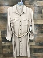 New Time and Tru Women's Brown Belted Utility Shirt Dress Size XXL (20)