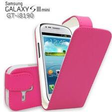Flip Tasche für Samsung Galaxy S3 Mini I8190 Schutz Hülle Case Handytasche PINK