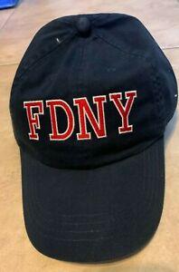 FDNY Keep Back 200 Feet New York Fire Dept Navy Blue Hat Cap NEW Adj Strap Back