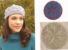 Winter Sunburst Hat - Carole Wulster KNITTING PATTERN