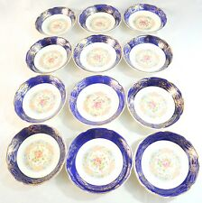 Vintage Madam Du Barry Royal Blue 22K Gold Bowl's By Stetson