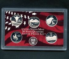 "2007 'S' USA Proof Silver ""State Quarter Set"" 5 Coins Encased"