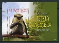 Grenadines Grenada 2018 MNH Land Mammals Mona Monkey 1v S/S Wild Animals Stamps