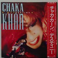 CHAKA KHAN DESTINY WARNER P-13286 Japan OBI VINYL LP