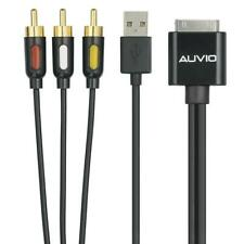AUVIO Composite A/V and USB Charging Cable for iPod and iPhone NEW Free Shipping