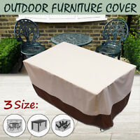3 Size Waterproof Outdoor Furniture Cover Chair Table Garden Round/Rectangle