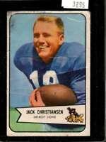 1954 BOWMAN #100 JACK CHRISTIANSEN POOR LIONS  *X3295