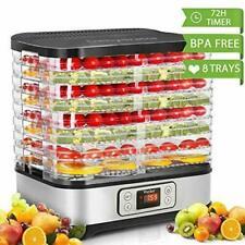 Food Dehydrator Machine, Digital Timer and Temperature Control, 8 Trays,400 Watt