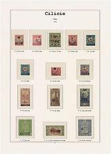 Album Cilicie en couleur avec pochettes. Pas de timbres. No stamps.