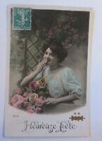 Geburtstag, Frauen, Mode, Korb, Blumen,  1909 ♥ (6819)