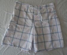 Short de bain blanc à carreaux pour hommes, Tribord, taille 42