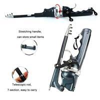 Folding Mini Lightweight Pocket Fish Pen Aluminum Alloy Fishing Rod Pole + Reel