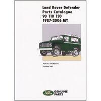 Land Rover Defender 90 110 130 Parts Catalogue 1987-2006 MY book paper car