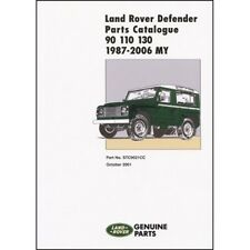 Land Rover Defender 90 110 130 Parts Catalogue 1987-2006 MY book paper car