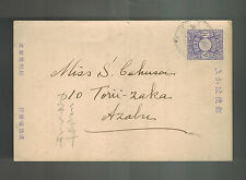 1940s Japan Postal stationery  Postcard cover Domestic use in English