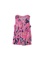 Lilly Pulitzer Essie top hot pink blue floral women's size small tank