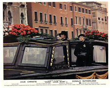 Don't Look Now original lobby card Julie Christie on Grand Canal Venice boat